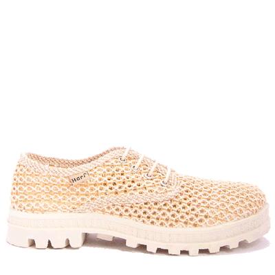 Плетени обувки с връзки 037-4