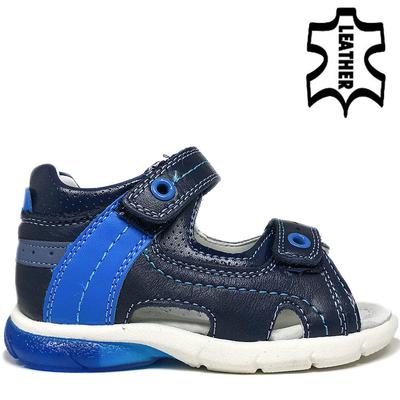 СВЕТЕЩИ ДЕТСКИ САНДАЛИ AB-19 D.BLUE/ACID BLUE