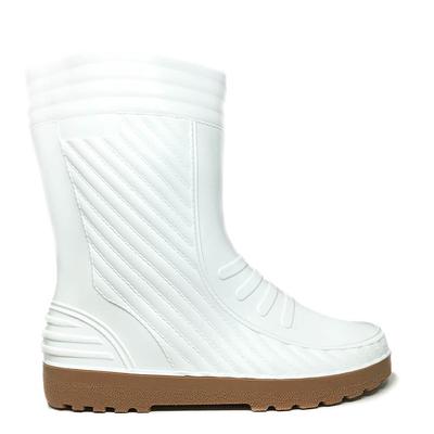 Бели гумени ботуши 407-11